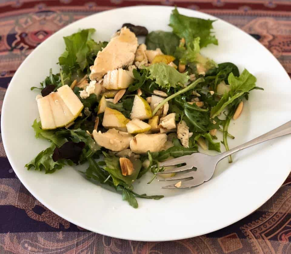 Charlotte Personal Trainer's Feeling Light and Eating Right Chicken and Pear Salad