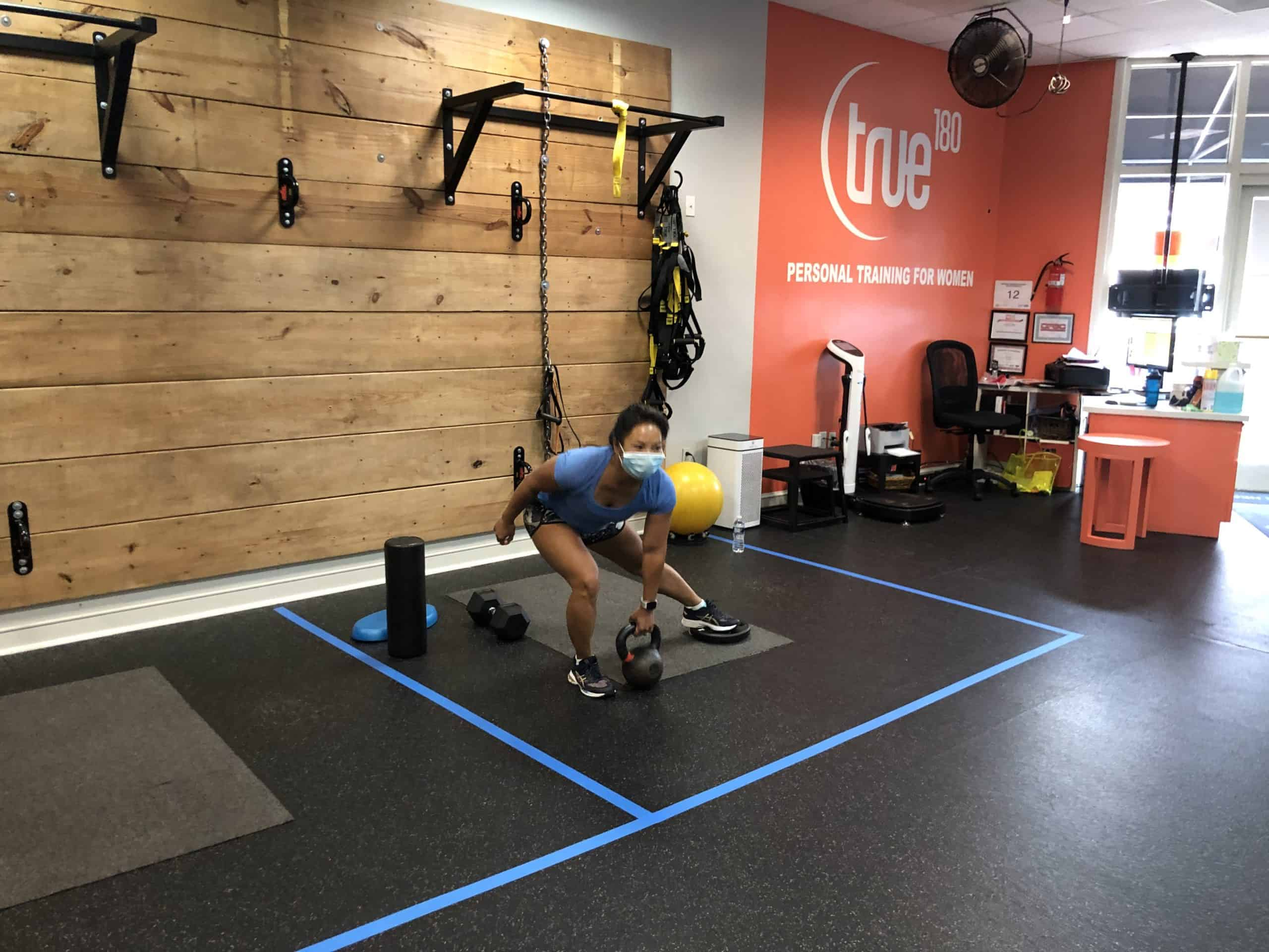 Leni's Back to her Workouts @ True 180 Personal Training, Charlotte